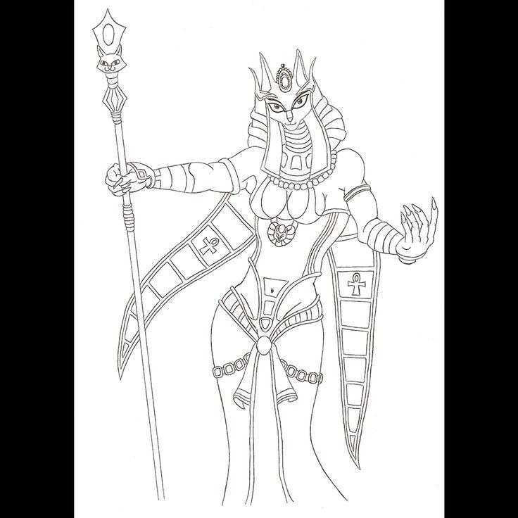 Behance :: Editing Goddess Bastet | ballpoint pen drawing | 2009