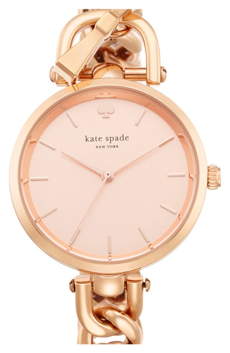 The minimalist dial of this sleek rose gold Kate Spade watch makes it so versatile: pair with the arm candy for a stacked wrist, or let this beauty shine in the limelight.