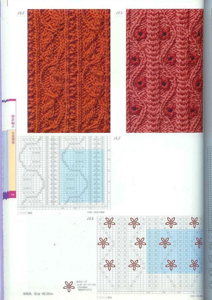 Knitting Stitch Patterns Book : Knitting Patterns Book 250 - ?? - ????? Lace Knitting Stitches Pinterest ...