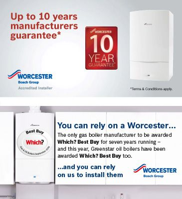 Progas Heating Services Ltd in South East London offers 5 year guarantees on Worcester Greenstar gas or oil fired boilers installation.
