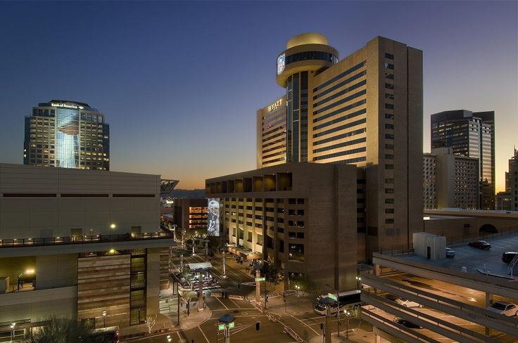 Stay at the Hyatt Regency Phoenix and eat at the Compass ...