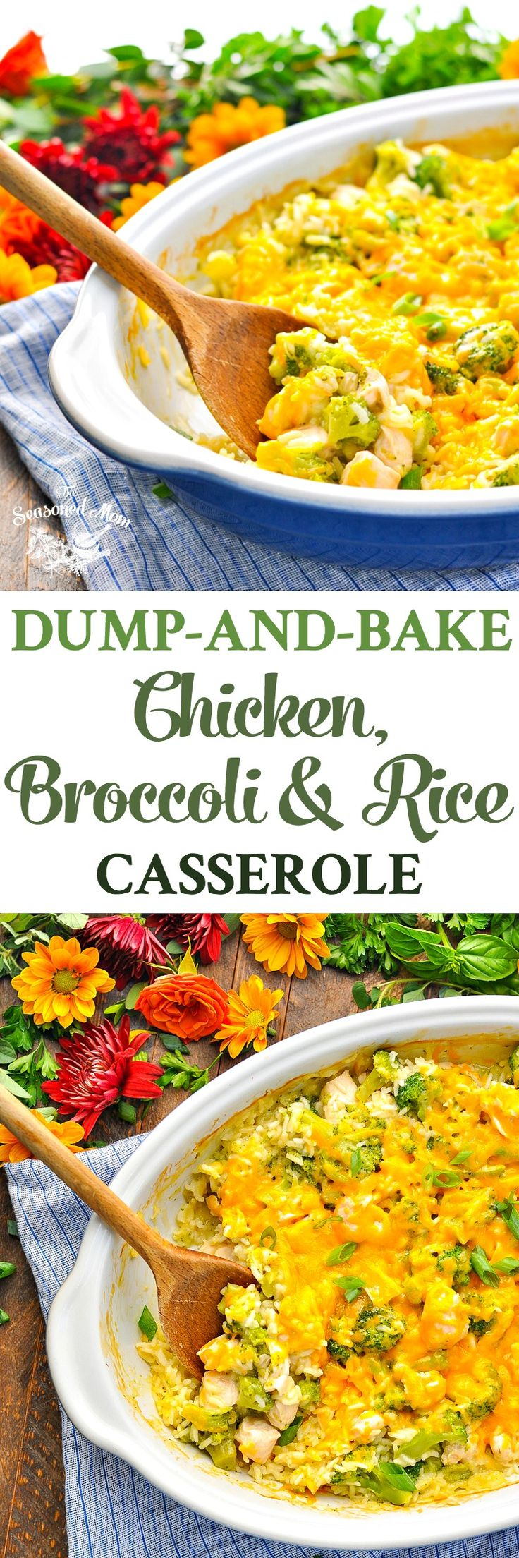 With just 5 ingredients and about 5 minutes of prep, this Dump-and-Bake Chicken Broccoli Rice Casserole is an easy dinner that cooks in one dish! #chicken #dinner #5ingredients
