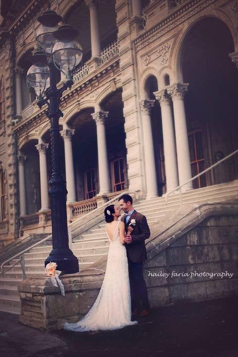 Iolani palace barracks wedding dress