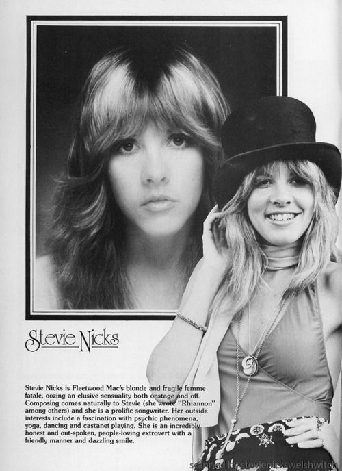 Stevie   ~ ☆♥❤♥☆ ~  an awesome scan from the UK version of the 'Rumours' tour book, 1977 ~  https://en.wikipedia.org/wiki/Rumours_(album)