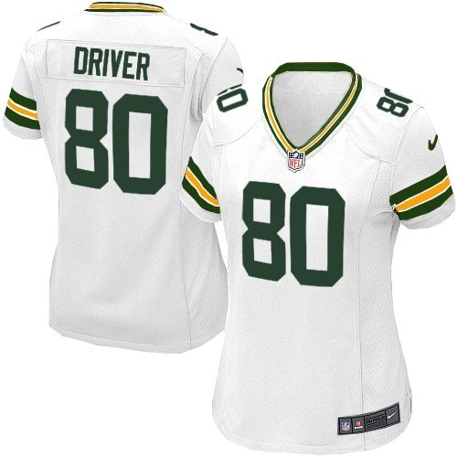 81b91641d55 Shop for Official Womens Nike Green Bay Packers 80 Donald Driver Elite  White ...