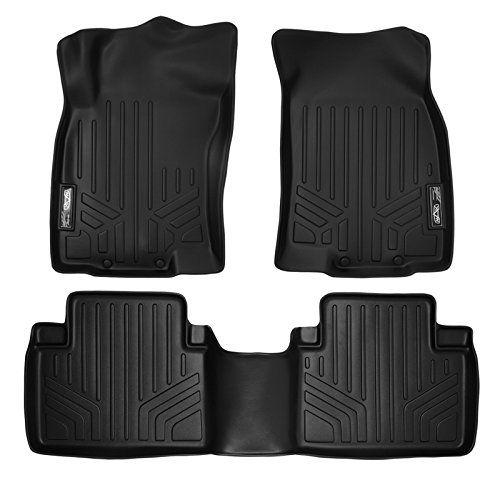 MAXFLOORMAT Floor Mats for Nissan Rogue (2014-2017) Complete Set (Black). For product info go to:  https://www.caraccessoriesonlinemarket.com/maxfloormat-floor-mats-for-nissan-rogue-2014-2017-complete-set-black/