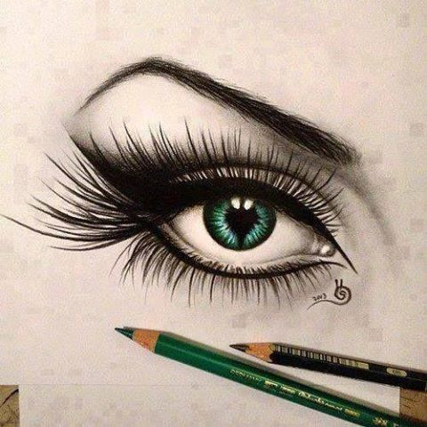 Green eye, so beautiful