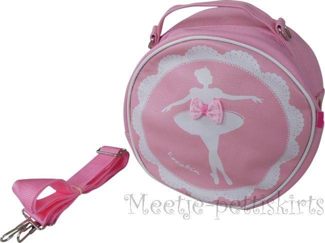 *BalletTas Ballerina Rond Leer