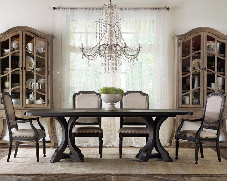 Corsica Rectangle Pedestal Dining Table Set By Hooker Furniture At Olindeu0027s  Furniture