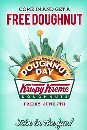 FREE Krispy Kreme Doughnuts on 6/7!  {yum!} Save the Date! lol!