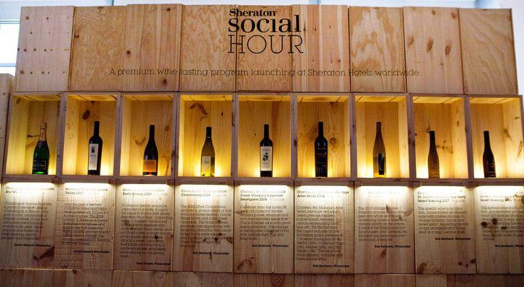 Wine display at Sheraton Social Hour