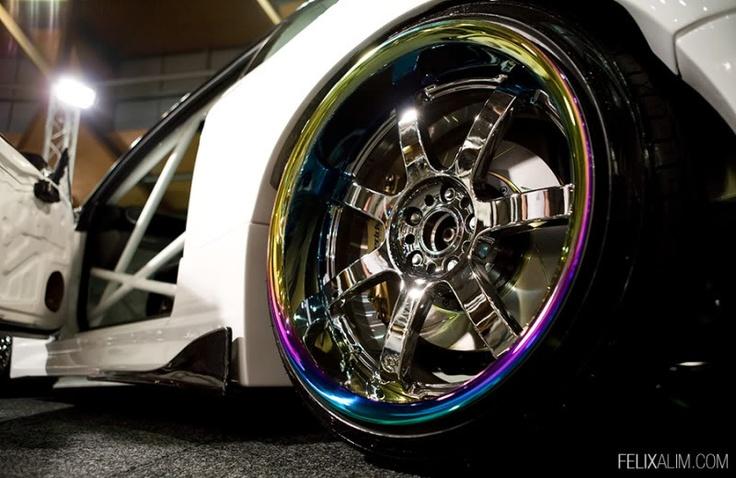 Burnt (anodized) titanium lip 4 Wheels !!! Pinterest