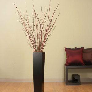 Large Black Decorative Floor Vases