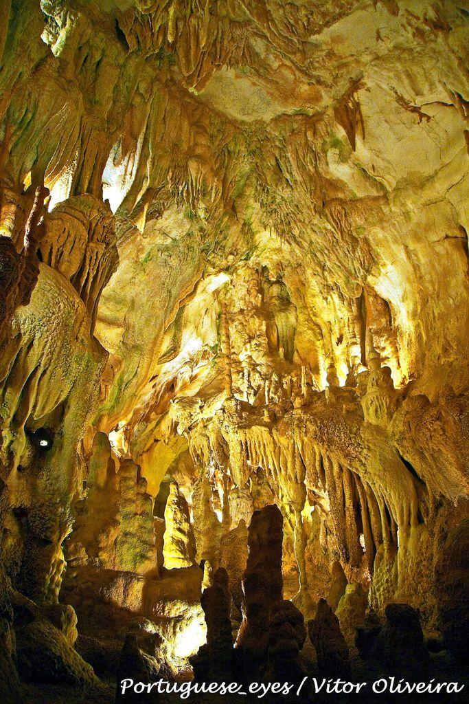 """As grutas foram descobertas em 1971 por dois caçadores que andavam a perseguir uma raposa. A curiosidade levou-os a explorar o algar em toda a sua extensão, logo uma sala - a """"Sala do Pastor"""", repleta de formações calcáreas. Durante perto de dois meses, os dois homens continuaram a escavar as estreitas fendas que se seguiram à primeira caverna, desvendando pouco a pouco as demais salas e galerias que hoje se incluem no percurso visitável.  Entretanto foram contratados geólogos e outros…"""