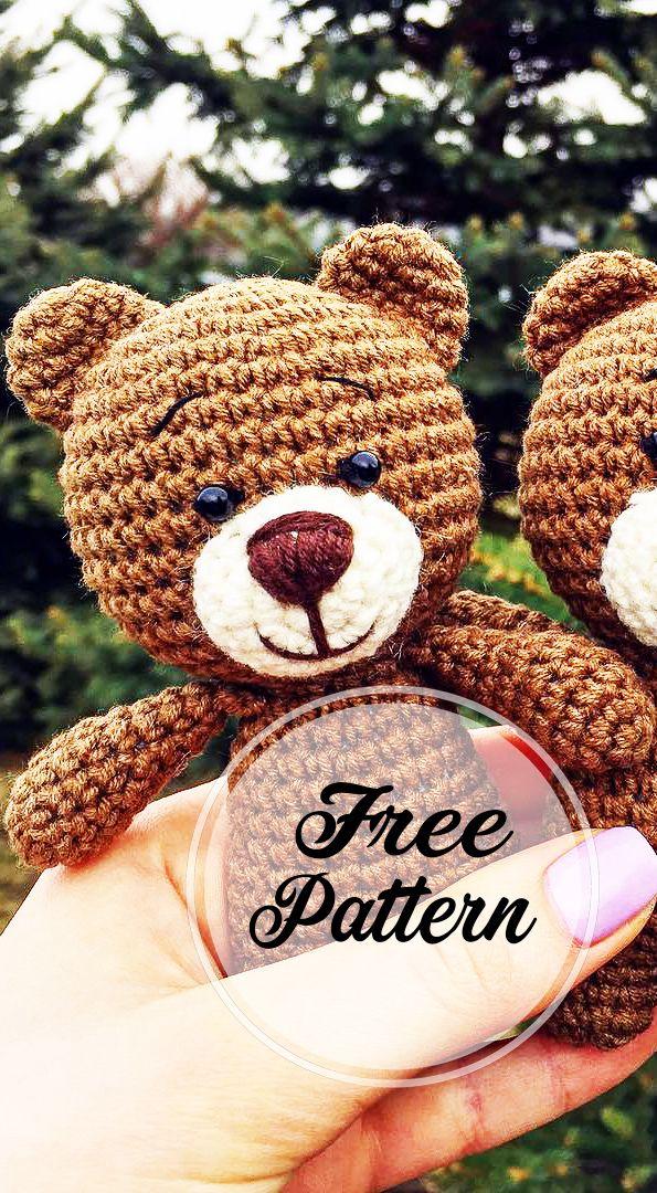 Awesome Free Crochet Teddy Amigurumi Bear Pattern