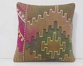 brown pillow beige pillow cover green pillow case bohemian pillow turkish pillow case kelim rug handmade cushion tan kilim pillow sham 14673