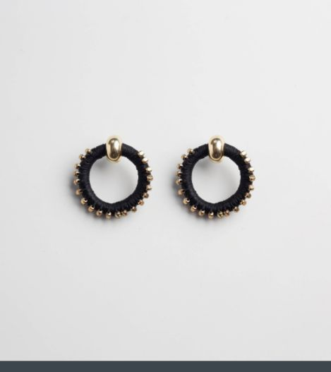 Beaded  Full Circle Earrings: Inspired by ancientBerber sun signs and the Daughter of Ra who was regarded in ancient Egyptian mythology as 'The Lioness,'these earrings convey the fierce, radiant and energizing force of the sun.  PICHULIK SS17 Beaded Circle Earrings  Buy Online: www.pichulik.com/shop