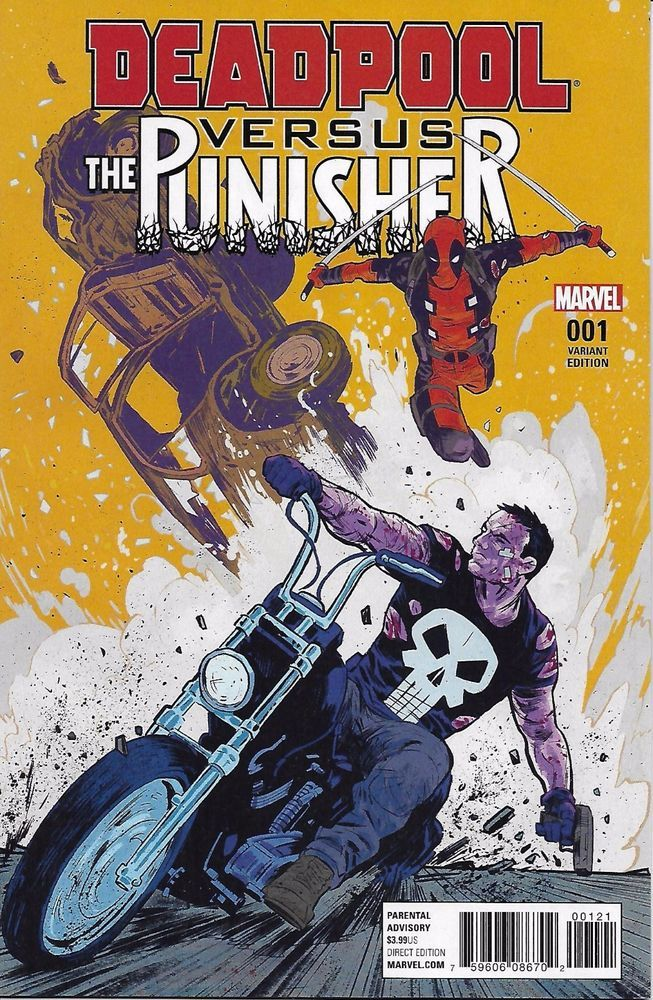 Marvel Deadpool vs The Punisher comic issue 1 Limited variant