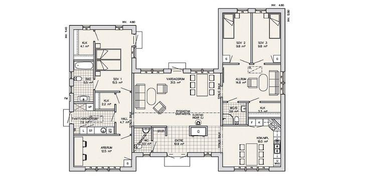 u shaped house plans | Maleras | Scandinavian Homes Ltd