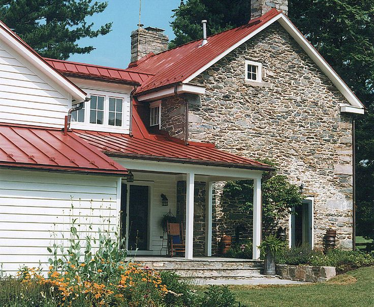 22 best images about red metal roof on pinterest for Farmhouse metal roof