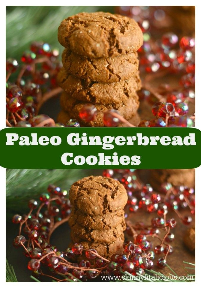 Paleo Salted Gingerbread Cookies {GF, Paleo, Low Cal, Vegan}