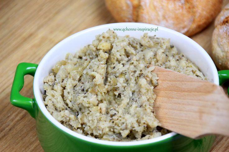 Roślinny smalczyk! Pełen białka, żelaza, potasu i wapnia! Doskonały nie tylko dla wegetarian i wegan! wegetariańskie wegańskie zdrowe odżywienia pasty do pieczywa roślinne