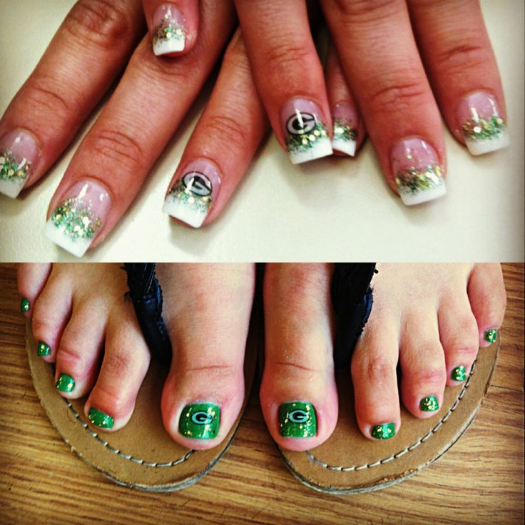Green Bay Packers nails!