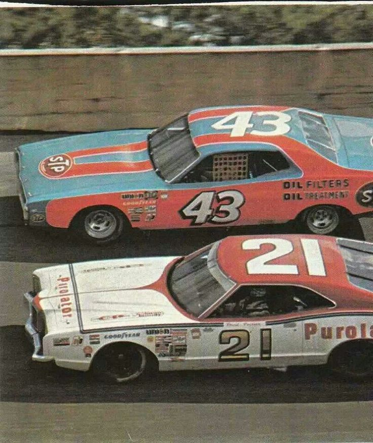 Richard Petty David Pearson - probably the greatest rivalry in the sport, between the two winningest drivers of all time!