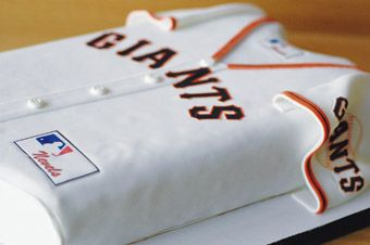Brides.com: Groom's Cakes. Jersey Boy  Treat him to a taste of his favorite pro or alma mater team in the form of a jersey-shaped confection. Cake design by I Dream of Cake.