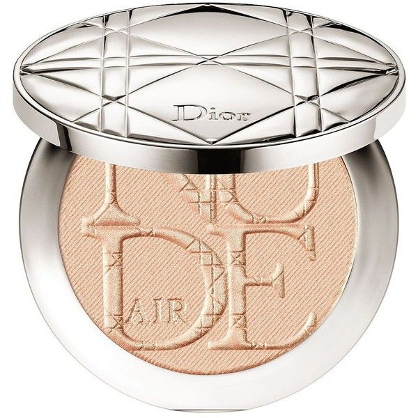 Dior DIORSKIN NUDE AIR LUMINIZER POWDER Shimmering Sculpting Powder ($56) ❤ liked on Polyvore featuring beauty products, makeup, face makeup, face powder and christian dior