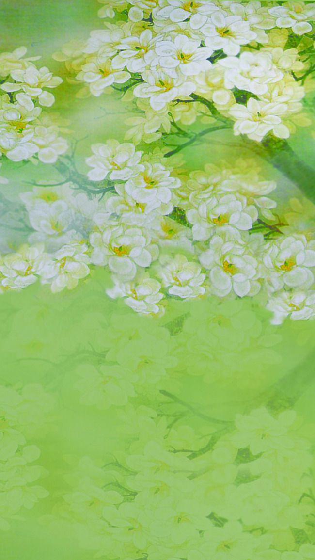 مصنع ورق نبات وعائي الجنبات الخلفية Green Art Painting