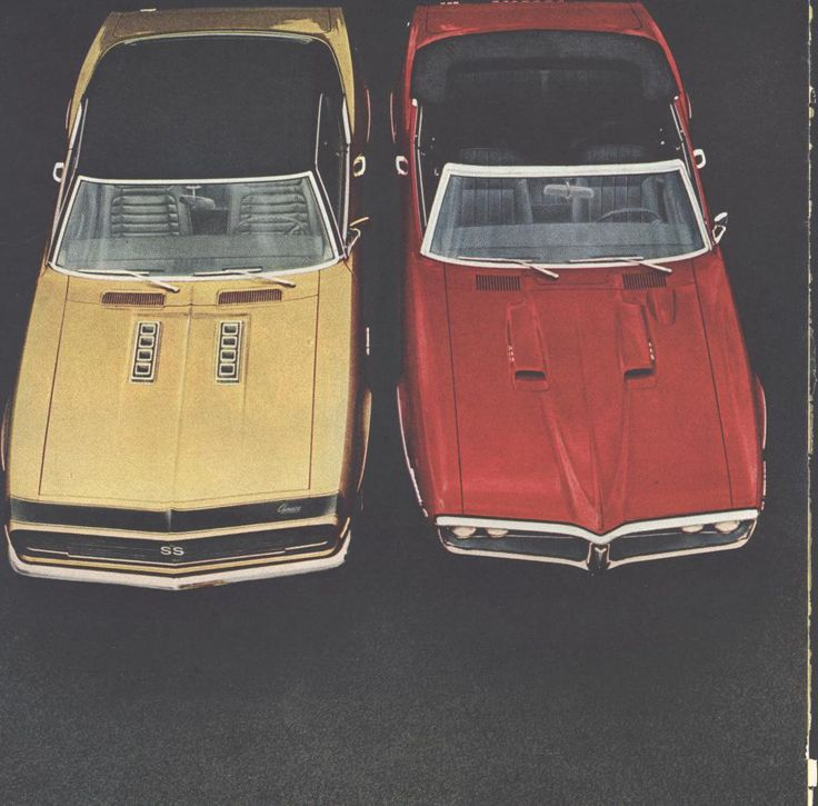 68 General Motors Camero Firebird (Double Page) LIFE March 29 1968