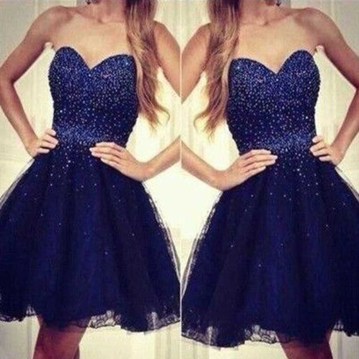 2016 royal strapless sweetheart beads sparkly cute homecoming prom dress,BD0035