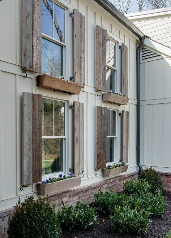 Barnwood shutters. 3907 Trimble - Vintage South Development