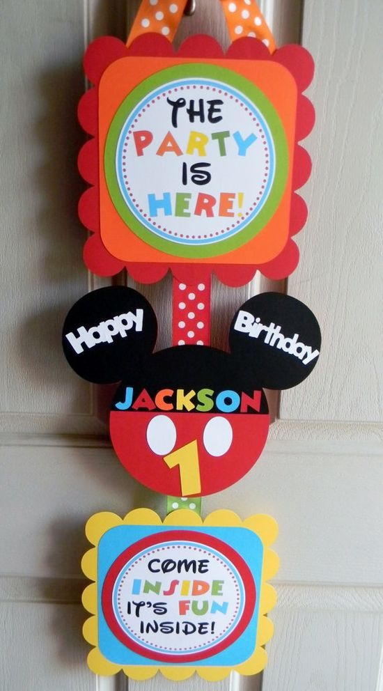 Awesome Party Ideas Collections: Mickey Mouse Clubhouse Birthday Party Deluxe Door Sign on Etsy, $20.00