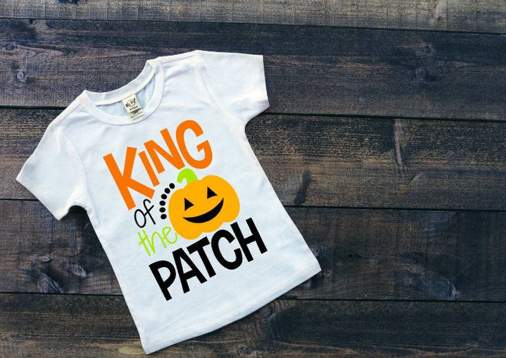 King Of The Pumpkin Patch Tee Boy's Halloween Shirt Toddler's Halloween Party Shirt Infant Halloween Outfit Kids Trick or Treating Shirt by SimplySweetJBoutique on Etsy