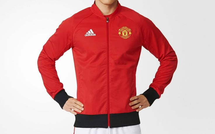 The new Manchester United Anthem jacket features a smart design, incorporating the club's red and black in a bold way.