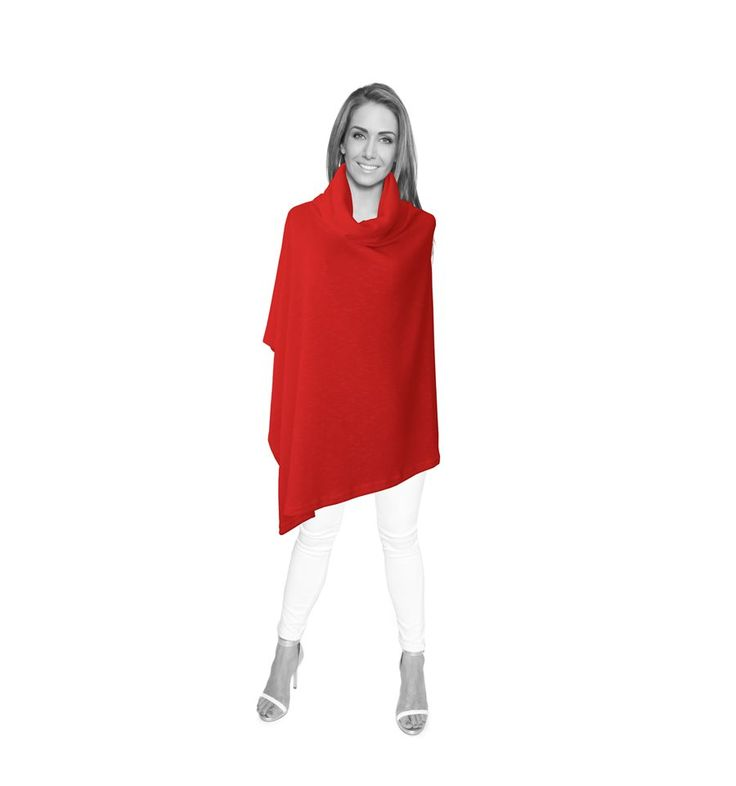 Red Cowl Neck Wrap