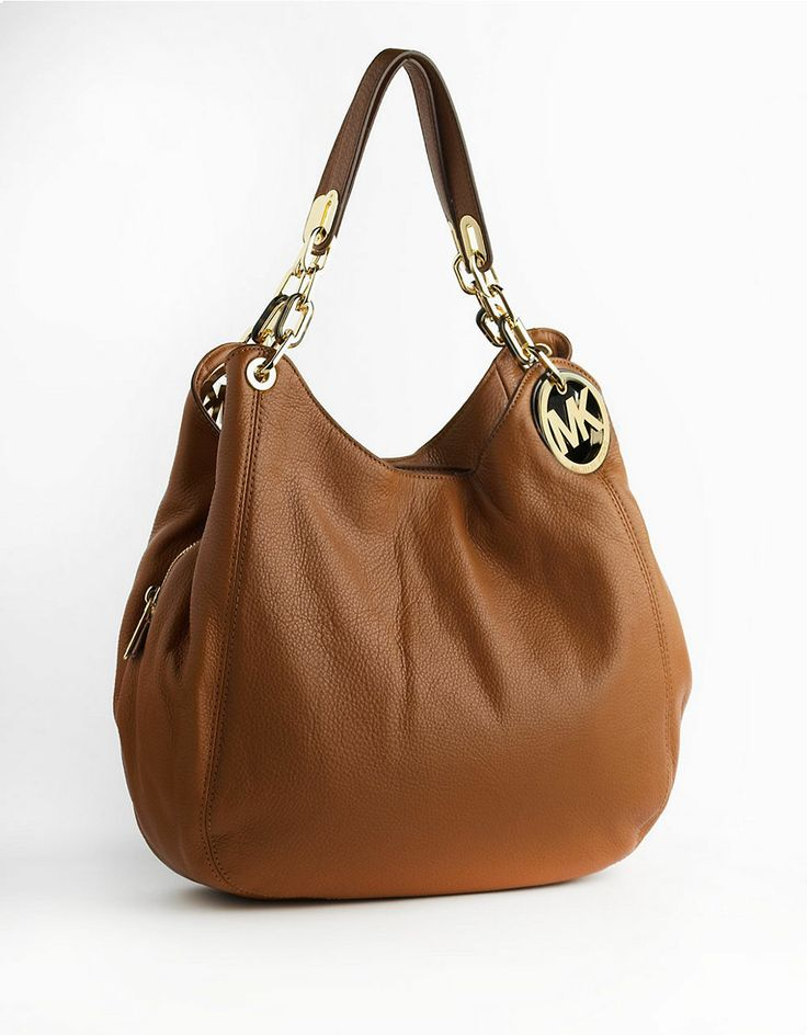 Michael Michael Kors Fulton Leather Shoulder Bag Luggage