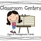 A cute way to label and manage your classroom centers.  This set includes classroom center signs and center management cards.  The following center...