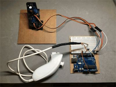 In this project we will connect a Wii nunchuk to an Arduino and control pan/tilt servos. By Mark Tashiro.
