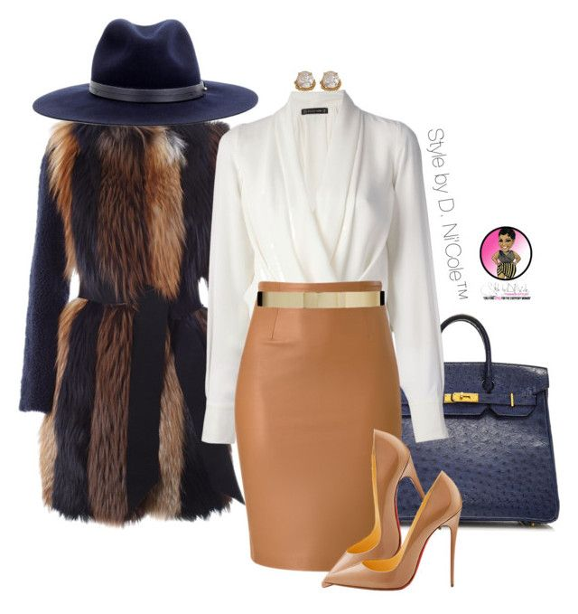 """Untitled #2898"" by stylebydnicole ❤ liked on Polyvore featuring Hermès, BLANCHA, Plein Sud, Christian Louboutin, ABS by Allen Schwartz, ASOS and rag & bone"
