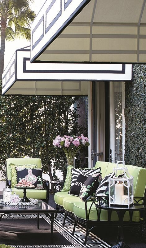 Celebrating the spirit of the area for which it was named, our Wilshire Seating welcomes you with elegance and exuberance.  | Frontgate: Live Beautifully Outdoors