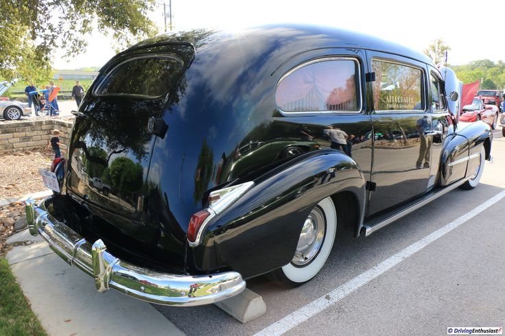 1948 Pontiac Streamliner Hearse, as shown at the March 19, 2017 Round Rock TX USA car show.