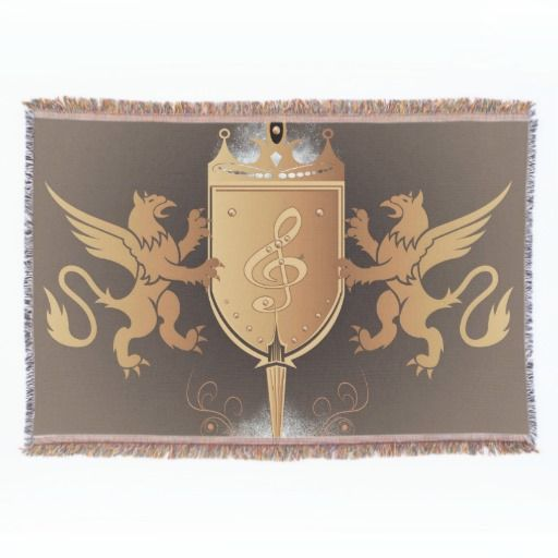 #Clef with shield throw #blanket