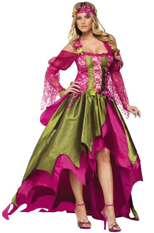 womens fairy queen costume fairy queen adult costume this enchanting forest pixie will make the nymphs green with envy includes gown with ribboned - Green Fairy Halloween Costume