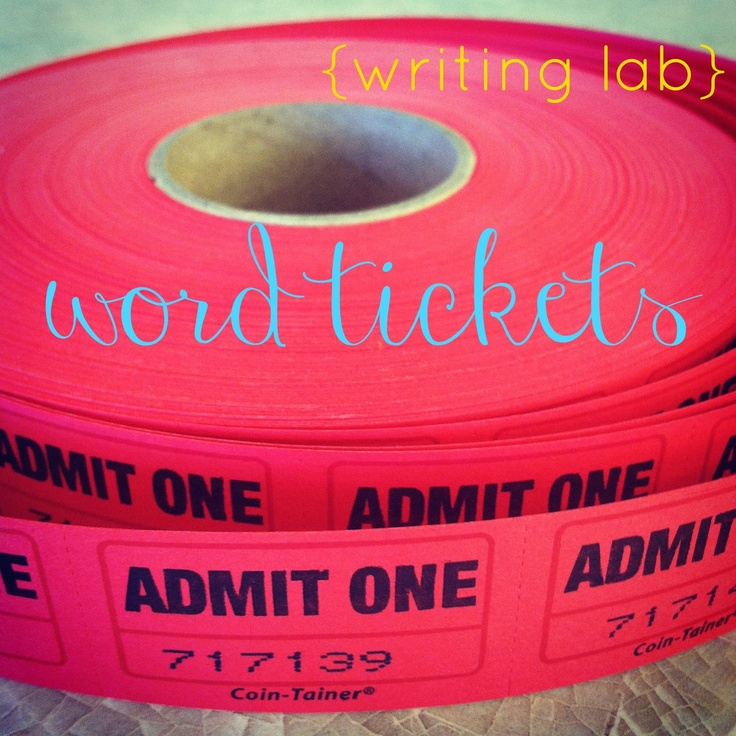 mamascout: {writing lab} making word tickets
