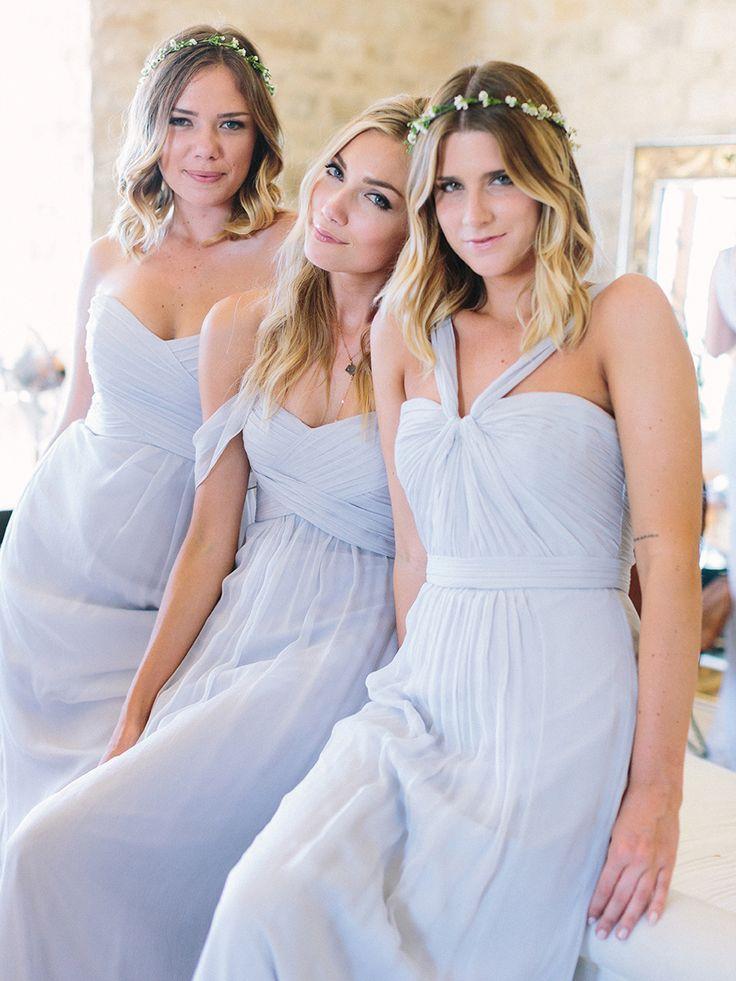 Photography: Luna de Mare  - lunademarephotography.com Bridesmaids' Dresses: Amsale - http://amsale.com   Read More on SMP: http://www.stylemepretty.com/2015/09/21/intimate-summer-sunstone-villa-wedding/