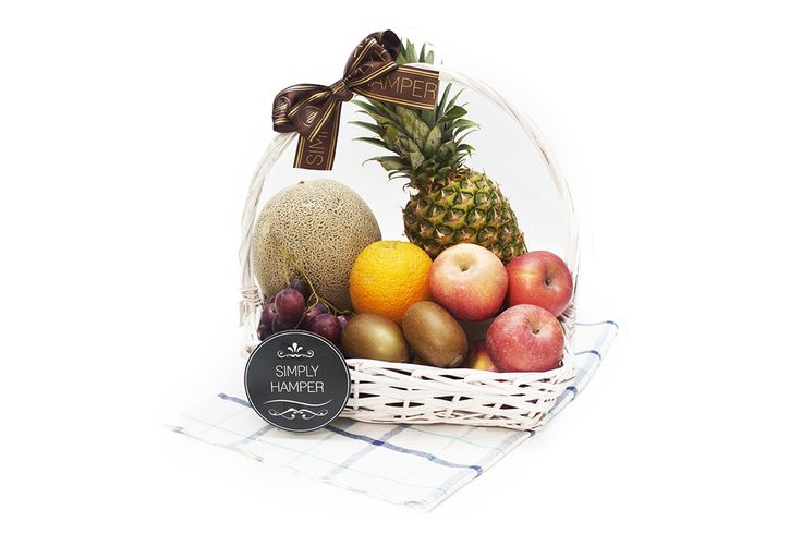 Orchard Dews ($80.00): Orchard Dews Fruit Basket features top of the season fruit, organic, elegantly arranged in a sturdy hand woven wicker hamper.