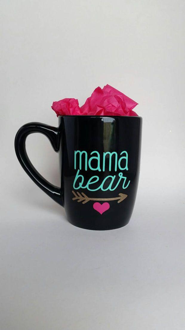 Mama Bear coffee mug // Tea cup // Heart and arrow // Cubs